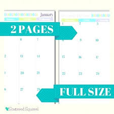 2 Page Calendar Template Weekly 2015 Printable One Definition