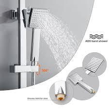 Duschsystem Duschset Regendusche Duscharmatur Handbrause Ohne Wasserhahn Chrom Ebay