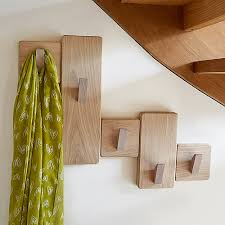 Solid Oak Coat Rack under stairs wooden coat rack made in UK from solid oak finished 17