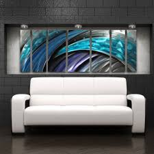 Metal Kitchen Wall Art Decor Typhoon Large Modern Abstract Metal Wall Art Sculpture Blue Dv8