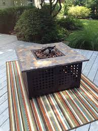 New Propane Fire Pit And Synthetic Carpet Propane Fire Pit Synthetic Carpet Outdoor Decor