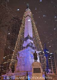 Indianapolis Monument Circle Tree Lighting All Of The Lights Downtown Indianapolis In Copyright