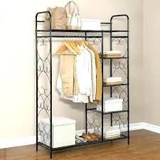standing closet rack free nding wardrobe racks clothes build your own ikea