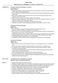 Die Setter Resume Examples Tooling Engineer Resume Samples Velvet Jobs 13