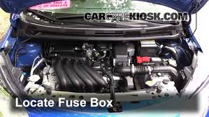 replace a fuse 2014 2016 nissan versa note 2015 nissan versa 2013 nissan versa fuse box diagram locate engine fuse box and remove cover