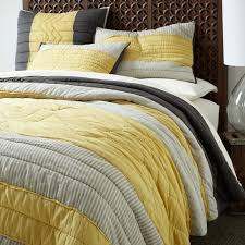 prairie quilt shams by west elm love the grey and yellow combination