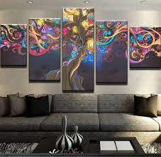 5 piece canvas prints. Delighful Prints Colorful Psychedelic Painting Canvas Prints  5 Piece With Piece C