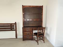 young hinkle ship ahoy wood desk with bookcase hutch ebth