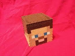 17 best images about minecraft stuff perler bead steve head box made of perler beads by bravedeity