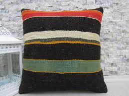 ethnic floor cushions. Delighful Ethnic Black Color Turkey Rug Kilim Pillow Cover 18 X Floor Cushion Decorative  Throw Boho And Ethnic Cushions