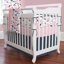 navy and pink nursery bedding thenurseries