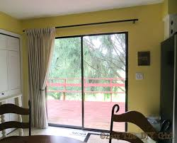 sliding glass door dry rods curtain sheer patio curtains rod inspirational for