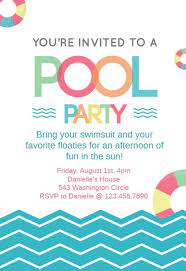 Design & order invitations online. Pool Party Invitation Templates Free Greetings Island