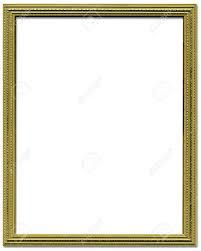 frame border design. Decorative Gold Empty Picture Frame Border Design Stock Photo 1951647 N