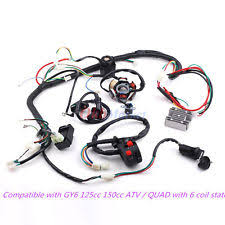 gy6 wiring harness full electric gy6 125 150cc loom magneto stator atv quad wiring harness 6 coil