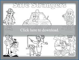 Stranger Danger Coloring Pages For Preschoolers Safe Strangers