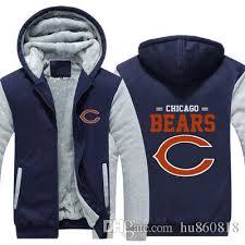 Engrossar Zíper Quente Urso Moletom New Com Velo Grande Jaqueta Chicago Da Equipe Hoodies Moletons Up-to-date Casaco Logotipo