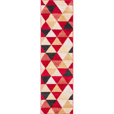 well woven mystic alvin modern geometric red 2 ft x 7 ft mid