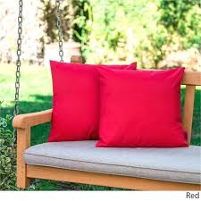 gallery of round outdoor chair cushions pillows sunbrella 20 x elegant patio pier e red dining