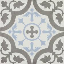 Patterned Magnificent Shop The Vibe Light Blue Patterned Wall And Floor Tiles 48 X