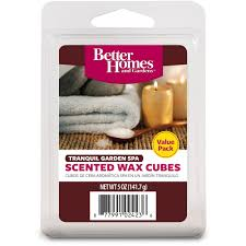 better homes and gardens value wax cubes tranquil garden spa com