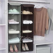 hanging closet organizer. Image Is Loading 5-Cubes-Wardrobe-Storage-Hanger-Hanging-Closet-Organizer- Hanging Closet Organizer