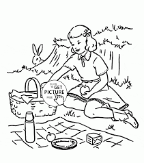 Small Picture Summer Picnic Coloring Page For Kids Seasons Pages And Coloring