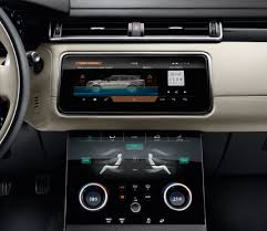 2018 land rover velar interior. beautiful rover 2018 range rover velar interior two 10inch touch screens on land rover velar interior