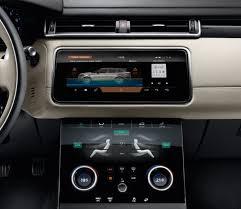 2018 land rover sport interior. wonderful 2018 2018 range rover velar interior two 10inch touch screens in land rover sport interior