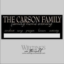 Family Home Evening Chart Custom Magnetic Vinyl Only