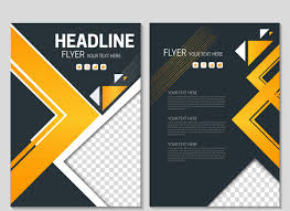 Black Flyer Backgrounds Flyer Template On Geometric Black Background Free Vector In