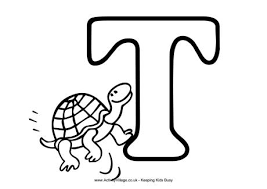 Small Picture Letter T Colouring Pages