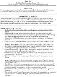 Sample Realtor Resume Creative Idea Real Estate Resume Sample Real