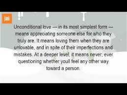 What Is Unconditional Love Quotes YouTube Mesmerizing Unconditional Love Uote