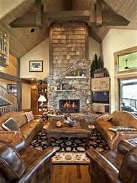 Country Cabin Living Room Furniture cabin living room ideas