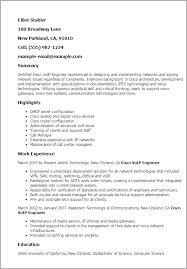 Resume Templates: Cisco Voip Engineer