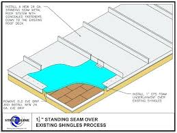 how to build a metal roof over a deck cost to install metal roof over shingles