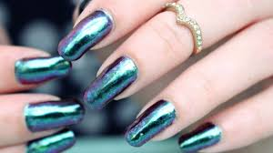 Metallic Chrome Nails | Nail Art Tutorial |BeautyBigBang Chameleon ...