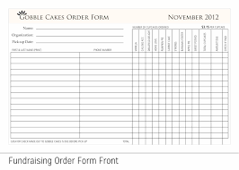 Sample Cake Order Form Template Template Fundraising Forms Template 18