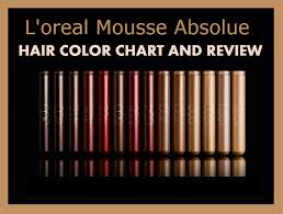 Loreal Mousse Absolue Color Chart