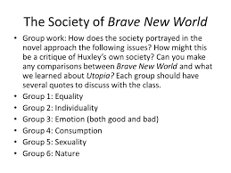 Brave New World Quotes With Page Numbers Fascinating Brave New World Part 48 The Society Of Brave New World Group Work