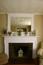 decorating mantel with permanent mirror - Google Search