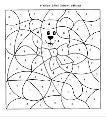 Small Picture Coloring Pages By Number Coloring Worksheets Printable Color Pages