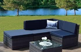 ansonia piece round patio table set cushions modern