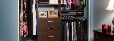 custom closets for women. Custom Small Closet With Chocolate Pear Finish And Flat Panel Style Closets For Women