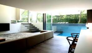 Pool House Interior Design With Cool Patio And Great Lighting