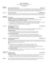 Harvard Business School Resume Format Samples Of Resumes Mba For