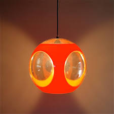 Orange Space Age Ufo Lamp By Luigi Colani 1970s At 1stdibs