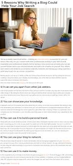 5 reasons why writing a blog could help your job search ion 5 reasons why writing a blog could help your job search