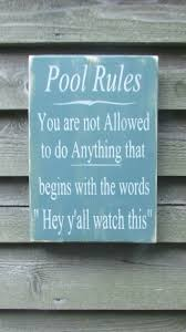 Wood Address Signs Outdoor Decor Hand Painted wood sign pool rules sign pool sign primitive 15